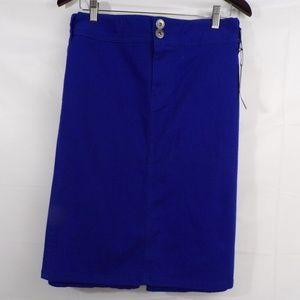 Roz & Ali Royal Blue Skirt Sz 24